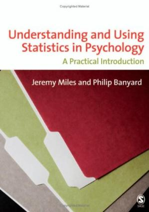 La couverture du livre Understanding and Using Statistics in Psychology: A Practical Introduction