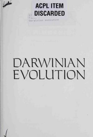 A capa do livro Darwinian Evolution