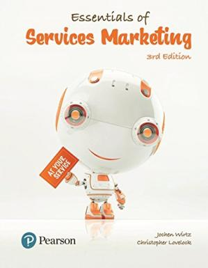 Book cover Essentials of Services Marketing