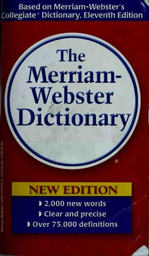 Book cover The Merriam-Webster Dictionary