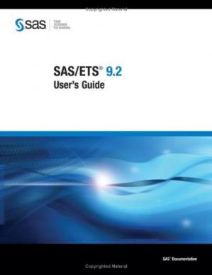 표지 SAS/ETS 9.2 User's Guide