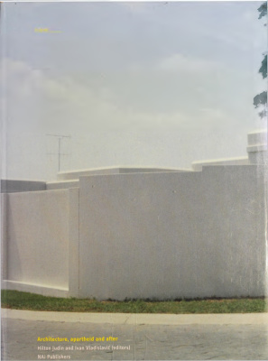 Book cover Blank: Architecture, Apartheid and After
