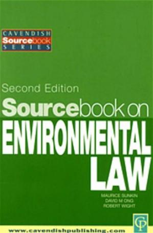Copertina Sourcebook on Environmental Law