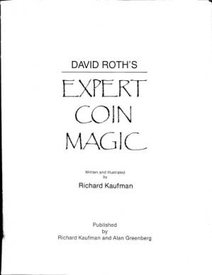 Book cover David Roth's Expert Coin Magic