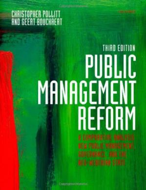 Okładka książki Public Management Reform: A Comparative Analysis - New Public Management, Governance, and the Neo-Weberian State