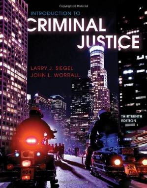Book cover Introduction to Criminal Justice, 13th Edition