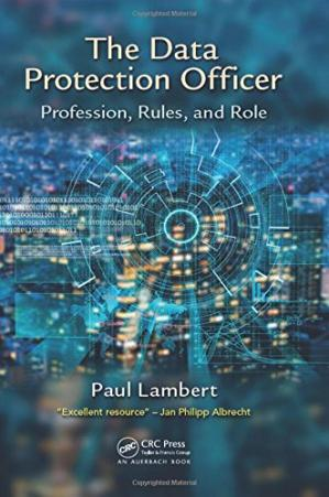 Book cover Data protection officer: profession, rules, and role