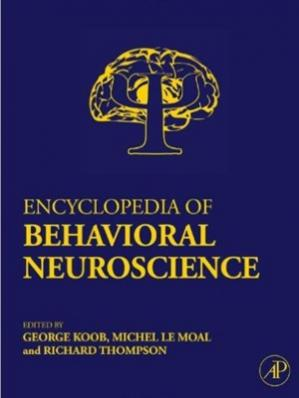 La couverture du livre Encyclopedia of Behavioral Neuroscience