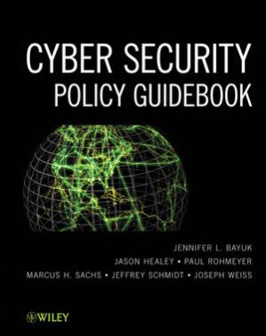 Book cover Cyber security policy guidebook