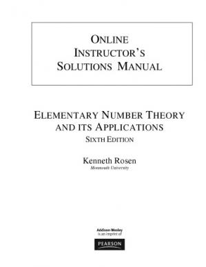 पुस्तक कवर Instructor's Solutions Manual for Elementary Number Theory and Its Applications, 6th Ed.