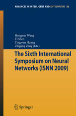 Book cover The Sixth International Symposium on Neural Networks (ISNN 2009)