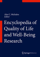 Book cover Encyclopedia of Quality of Life and Well-Being Research