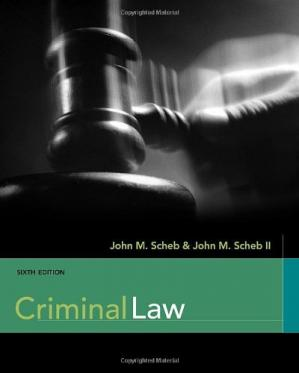 Book cover Criminal Law , Sixth Edition