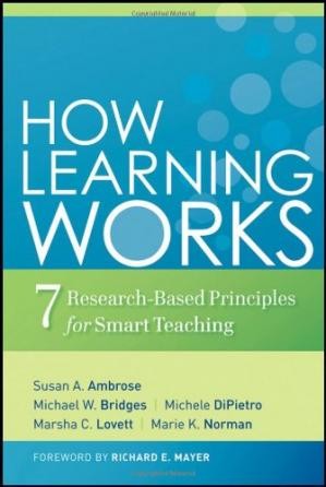 Book cover How Learning Works: Seven Research-Based Principles for Smart Teaching