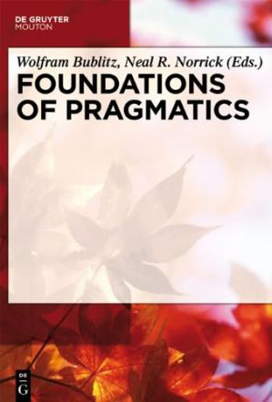 A capa do livro Foundations of Pragmatics
