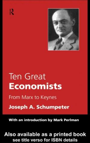 Book cover Ten Great Economists: From Marx to Keynes