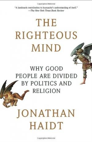 पुस्तक कवर The Righteous Mind: Why Good People Are Divided by Politics and Religion