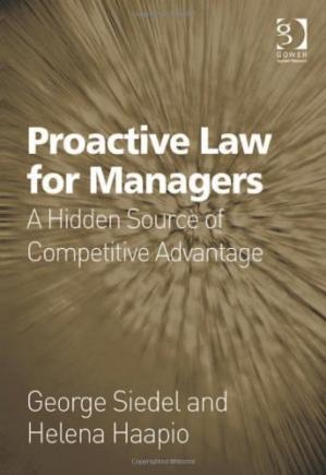 पुस्तक कवर Proactive law for managers : a hidden source of competitive advantage
