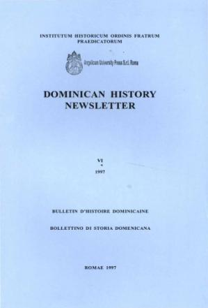 Book cover Dominican history newsletter