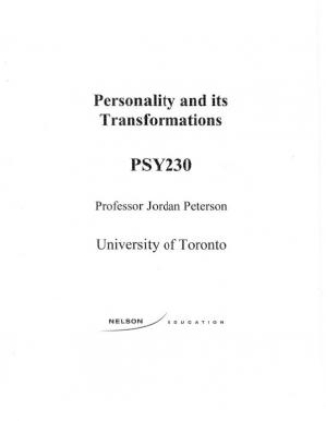 Book cover Personality and its Transformations