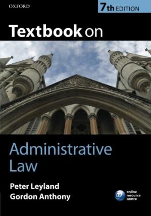 Book cover Textbook on Administrative Law