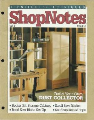 Buchdeckel Woodworking Shopnotes 013 - Build Your Own Dust Collector