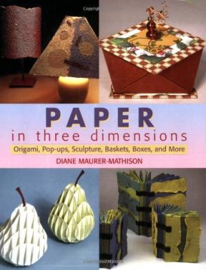 Book cover Paper in Three Dimensions: Origami, Pop-Ups, Sculpture, Baskets, Boxes, and More