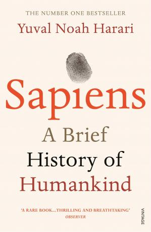 Book cover Sapiens, A Brief History Of Humankind