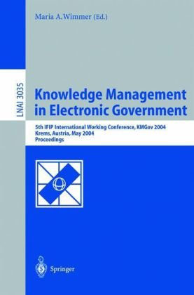 A capa do livro Knowledge Management in Electronic Government: 5th IFIP International Working Conference, KMGov 2004, Krems, Austria, May 17-19, 2004. Proceedings