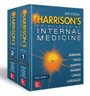 Book cover Harrison's Principles of Internal Medicine, Twentieth Edition (Vol.1 & Vol.2)