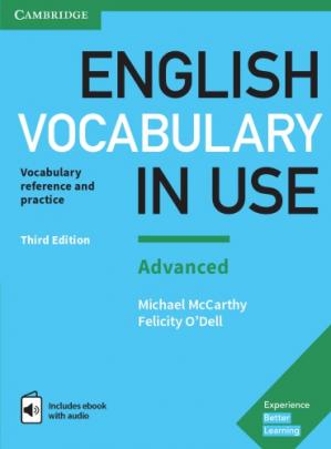 A capa do livro English Vocabulary in Use: Advanced Book with Answers and Enhanced eBook: Vocabulary Reference and Practice