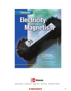 Book cover Glencoe Science: Electricity and Magnetism, Student Edition (Glencoe Science Series)