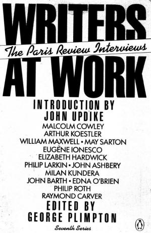 पुस्तक कवर Writers at Work: The Paris Review Interviews, Seventh Series
