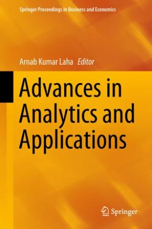 Book cover Advances in Analytics and Applications