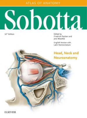 წიგნის ყდა Sobotta Atlas of Anatomy Head, Neck and Neuroanatomy