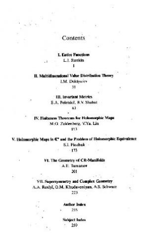 Book cover Several complex variables 03
