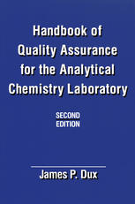 Korice knjige Handbook of Quality Assurance for the Analytical Chemistry Laboratory