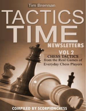 Portada del libro Tactics Time Newsletters. Vol.2 Chess tactics from the Real Games of Everyday Chess Players