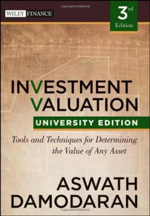 书籍封面 Investment Valuation: Tools and Techniques for Determining the Value of any Asset, University Edition