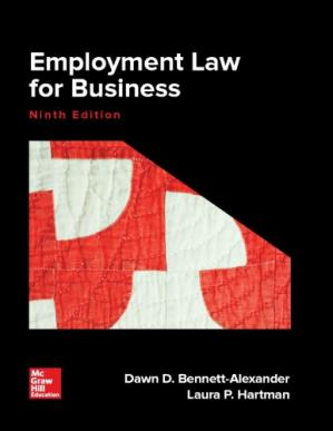 Book cover Employment Law for Business