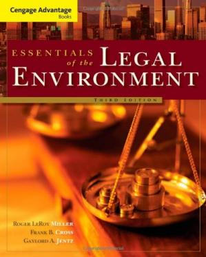 Book cover Cengage Advantage Books: Essentials of the Legal Environment