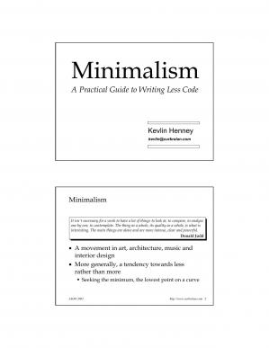 Book cover Microsoft PowerPoint - Minimalism.ppt