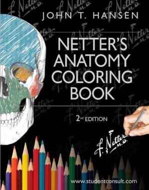 Book cover Netter's Anatomy Coloring Book