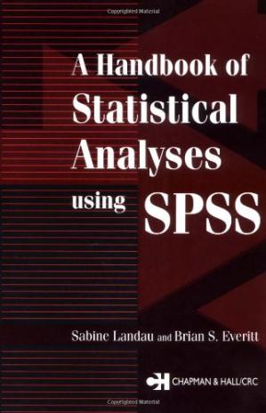 Обложка книги A handbook of statistical analyses using SPSS