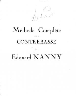 Book cover Nanny Edouard Complete Method for Double Bass