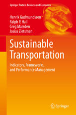 Portada del libro Sustainable Transportation: Indicators, Frameworks, and Performance Management