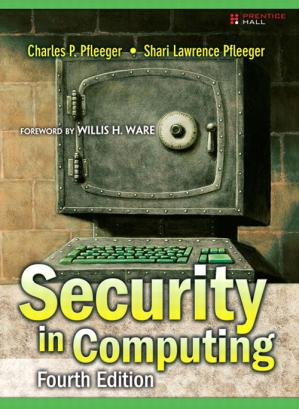 غلاف الكتاب Security in computing