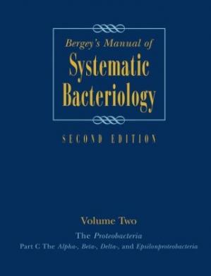 पुस्तक कवर Bergey's Manual® of Systematic Bacteriology: The Proteobacteria (Part C)