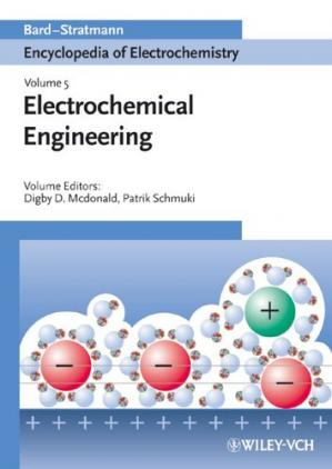 A capa do livro Encyclopedia of Electrochemistry, Electrochemical Engineering