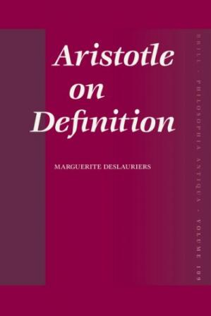 Portada del libro Aristotle on Definition